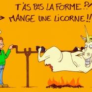 La licorne en forme