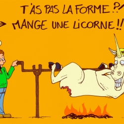 La licorne en forme