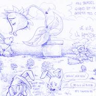Cupidon, les fleurs et les lapins