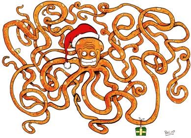 Le poulpe de Noël