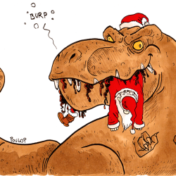 Le T-rex de Noël