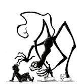 Inktober 2016, jour 27 - Thème : Pantouffle - Terrifiant