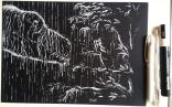Inktober 2016, jour 16 - Thème : tyrannosaure + mouillé